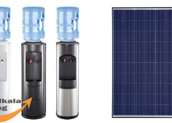 Application of solar cell for water cooler
